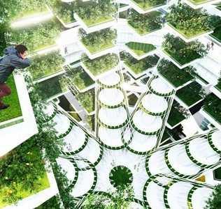 Urban Skyfarm. A Vertical Farm