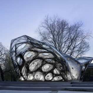 Carbon Fiber And Robots. A Pavilion Inspired By A Beetle