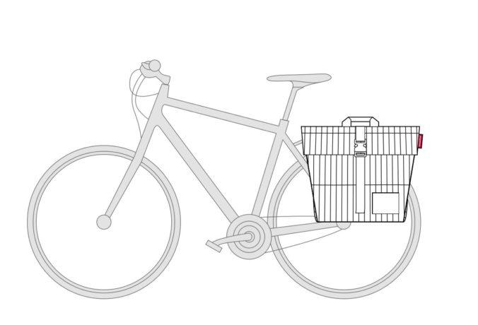 Urban Twin Bikebag Copenhagen Black And White Reisenthel
